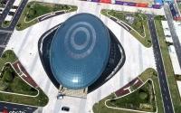"""江苏海安机器人科技馆开馆 高空俯拍宛如""""城市之眼"""""""